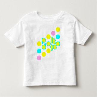 Whtie Toddler Jersey T-shirt w/ Polka Dot Design