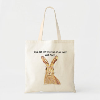 Why are you looking at my Hare like that tote bag