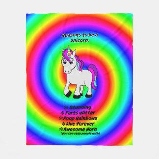 Why be a Unicorn Fleece Blanket 50x60