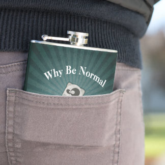 Why Be Normal Panda Custom Hip Flask