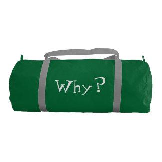 Why Big Question Mark Design Gym Bag