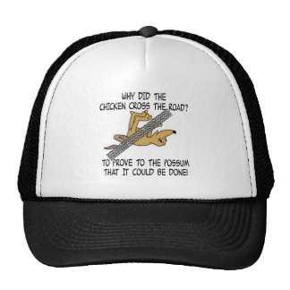 WHY CHICKEN CROSSED ROAD - COULD BE DONE TRUCKER HAT