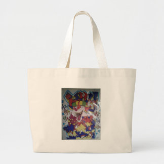 Why cry large tote bag