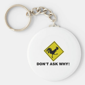Why Did the Chicken Cross the Road? Keychain