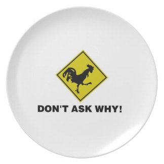 Why Did the Chicken Cross the Road? Plate