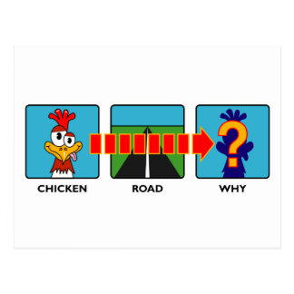 Why Did The Chicken? Postcard