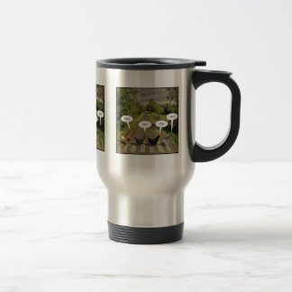 Why did the chickens cross the road? travel mug
