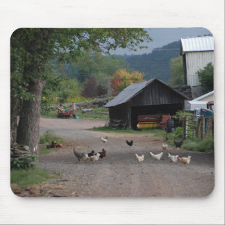 Why do chickens cross the road? mouse pad
