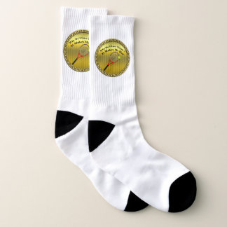 Why do I love tennis.It makes me hot(gold) Socks