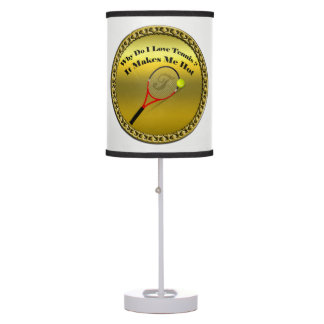 Why do I love tennis.It makes me hot(gold) Table Lamp