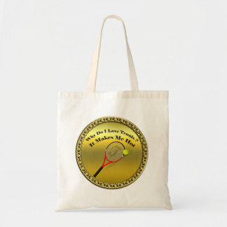 Why do I love tennis.It makes me hot(gold) Tote Bag
