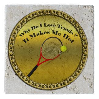 Why do I love tennis.It makes me hot(gold) Trivet