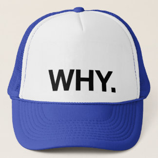 WHY. fun slogan trucker hat