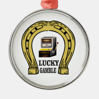why gamble lucky Silver-Colored round ornament