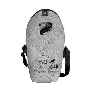 """""""Why is a Raven like a Writing Desk?"""" Bag Messenger Bags"""