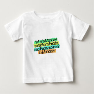 why is monday so far from fiday Funny Quotes Baby T-Shirt
