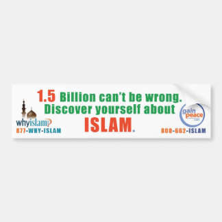 why-islam-bumper bumper sticker
