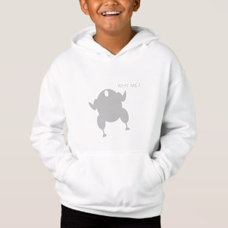 WHY ME WHITE PULLOVER HOODIE