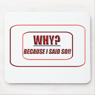 why? mouse pad