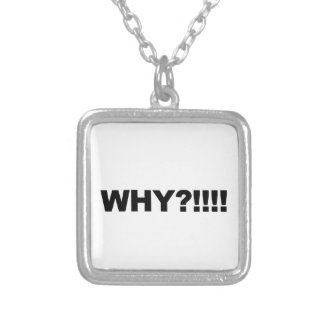 WHY?!!! SILVER PLATED NECKLACE