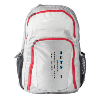 Why stand ye gazing up into heaven backpack