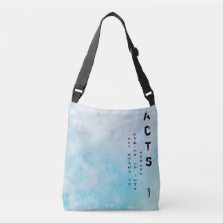 Why stand ye gazing up into heaven crossbody bag