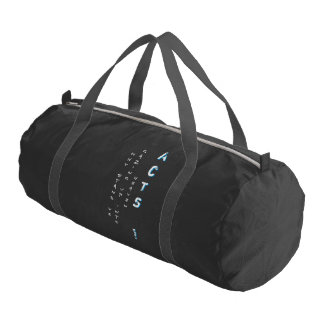 Why stand ye gazing up into heaven gym bag