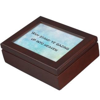 Why stand ye gazing up into heaven keepsake box