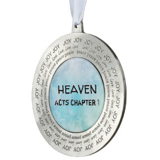 Why stand ye gazing up into heaven pewter ornament