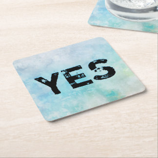 Why stand ye gazing up into heaven square paper coaster