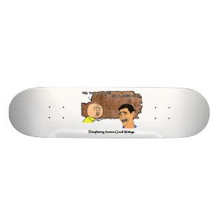 Why U No Guy and Laughing Guy Greek to Me Meme Custom Skate Board