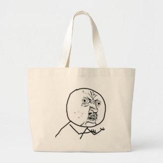 Why You No Guy (no text) Jumbo Tote Bag