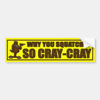 WHY YOU SQUATCHIN SO CRAY-CRAY? - Finding Bigfoot Bumper Sticker