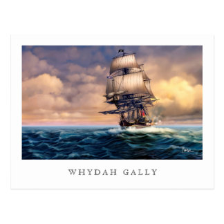 Whydah Gally Historic Ship Painting Postcards