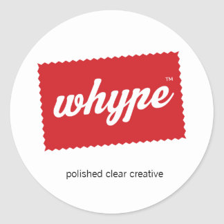 Whype logo polished clear creative stickers
