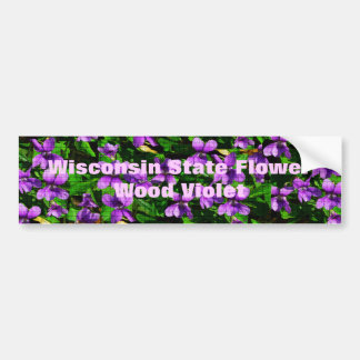WI State Flower Wood Violet Mosaic Pattern Bumper Sticker
