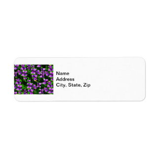 WI State Flower Wood Violet Mosaic Pattern Return Address Label