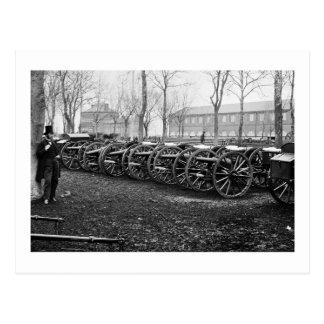 Wiard Guns at the Arsenal: 1862 Postcard