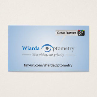 Wiarda Optometry Business Card