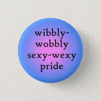 Wibbly-wobbly sexy-wexy bi pride 1 inch round button