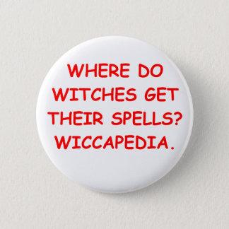 WICCA 2 INCH ROUND BUTTON