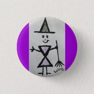 wicca child 1 inch round button
