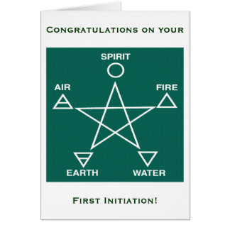 Wicca First Initiation Congratulations Card