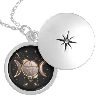 Wicca Pendent 5 Silver Plated Necklace