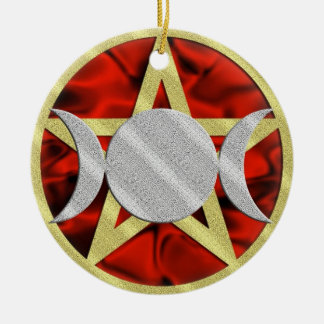Wicca Pentagram Triple Goddess Ornament
