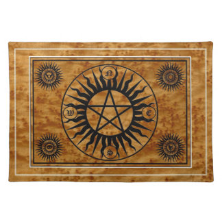 Wicca Witch Witchcraft Pentangle Sacred Altar Mat