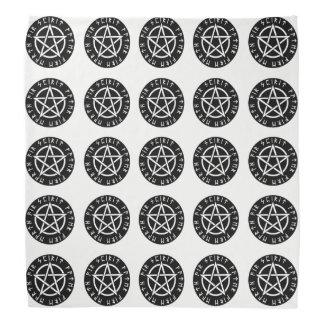 Wiccan Black Runic Pentagram Bandana