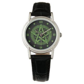 Wiccan Celtic Pentgram Symbol Wrist Watch
