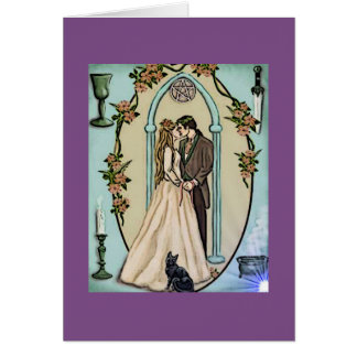 Wiccan Hand Fasting Greeting Card