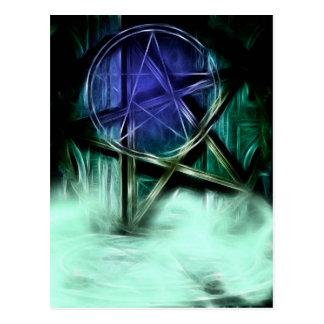 Wiccan Mist Fractal Manipulation Postcard